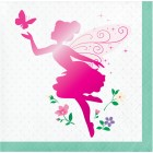 Floral Fairy Sparkle Beverage Napkins