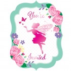 Floral Fairy Sparkle Invitations
