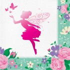 Floral Fairy Sparkle Lunch Napkins