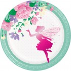 Floral Fairy Sparkle Lunch Plate