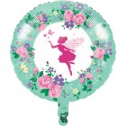 Floral Fairy Sparkle Metallic Balloon