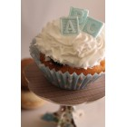Blue Cupcake Toppers