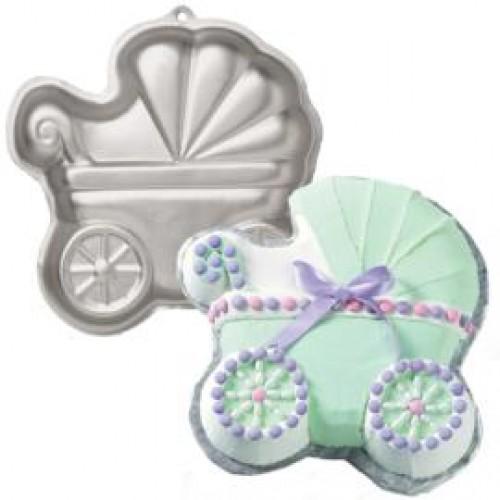 Wilton Baby Buggy Cake Pan Instructions
