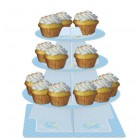 Teddy Bear Blue Cupcake Stand