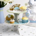 Little Owl Cake Stand Blue