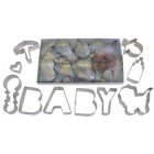 10 Piece Assorted Baby Shower Cookie Cutter Boxed Set