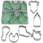 6 Piece Assorted Baby Shower Cookie Cutter Boxed Set