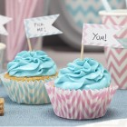 Chevron Divine Cupcake Picks