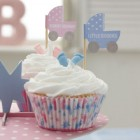 Tiny Feet Cupcake Flags