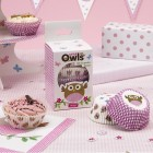 Little Owl Cupcake Cases - Pink