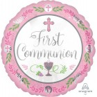 First Communion Foil Balloon - Pink