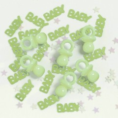 Baby Shower Mix Green Table Scatters