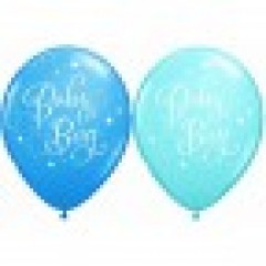 28cm Baby Boy Star Balloon