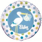 Baby Boy Stork Foil Balloon