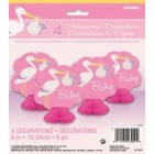 Baby Girl Stork Mini Tablecentres