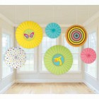 Fisher Price Jungle Baby Shower Paper Fans