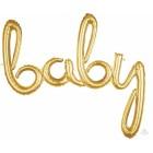 baby Script Balloon - Gold