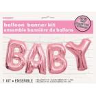 Baby Balloon Banner Kit - Pink