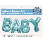 Baby Balloon Banner Kit - Blue