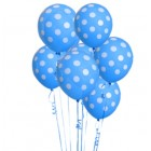 6 Pack Blue Polka Dot Balloons