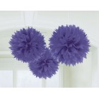 Fluffy Hanging Decorations - New Purple
