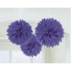 Fluffy Hanging Decorations - New Purple