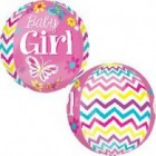 Baby Girl Orb Balloon