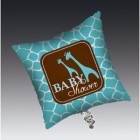 Baby Safari Blue Square Foil Balloon