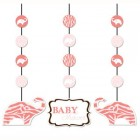Baby Safari Pink Hanging Decoration