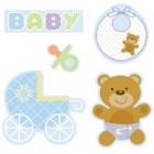 Teddy Bear Blue Cutout Assortment