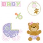 Teddy Bear Pink Cutout Assortment