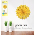 50cm Large Yellow Wheel Decorator Fan