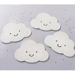 White Glitter Cloud Shaped Coaster