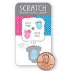 Little Man or Little Miss Scratch Reveal Cards - It's a Boy!