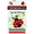 Lively Ladybugs Invitations