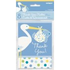 Baby Boy Stork Thank You Cards