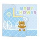 Teddy Bear Blue Invitations 25pk