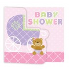 Teddy Bear Pink Invitations 25pk BULK