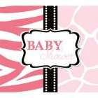 Baby Safari Pink Invitations