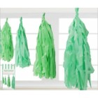 Green Tissue Paper Garland