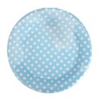 Blue Dotty Plates Round