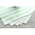 Striped Lunch Napkin - Green/White