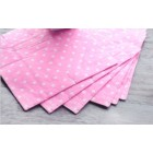 Polka Dot Lunch Napkin - Candy Pink/White