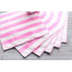 Striped Lunch Napkin - Candy Pink/White