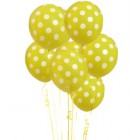 6 Pack Yellow Polka Dot Balloon