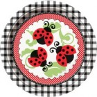 Lively Ladybugs Lunch Plates