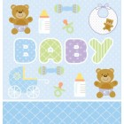 Teddy Bear Blue Tablecover