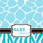 Baby Safari Blue Lunch Napkins