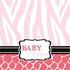 Baby Safari Pink Lunch Napkins