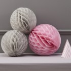 Chevron Divine Honeycomb Balls Grey/Pink